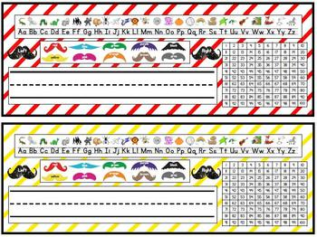 Mustache Nameplates--Two Versions!!!