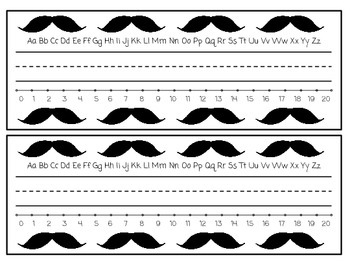 Mustache Nametags
