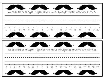 Mustache Nametags