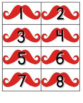 Mustache Number Countdown! 1-180