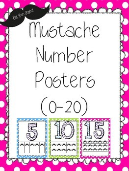 Mustache Number Posters