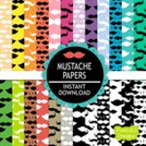 Mustache Paper Pack