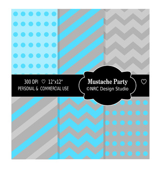 Mustache Party Paper Pack