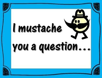 Mustache Math Poster