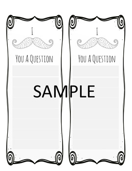 Mustache Printable Notes