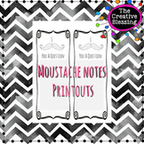 Mustache Printable Notes