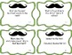 """Mustache"" Questions: CCSS Key Ideas and Details RL1 & RL2 Freebie"