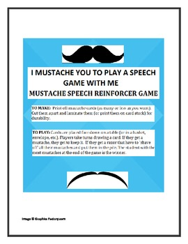 Mustache Reinforcer Game for Speech Therapy