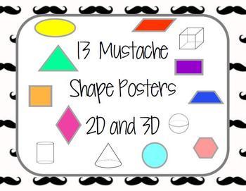 Mustache Shape Posters