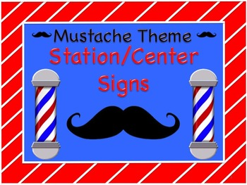 Mustache Station/Center Signs! Great for Classroom Management!