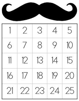 Mustache Sticker Chart