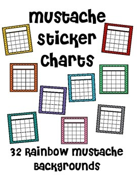 Mustache Sticker Charts