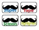 Mustache Supply Labels