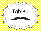 Mustache Table Numbers