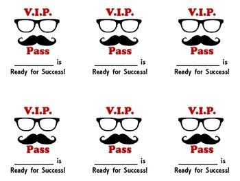 Mustache Test Prep and Motivational Materials