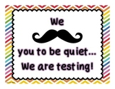FREE Mustache Testing Poster