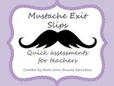 Mustache Theme Exit Slips
