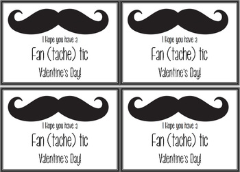 Mustache Themed Valentine's Day Cards