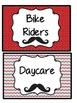 Mustache Transportation Cards