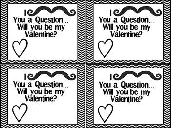 Mustache Valentine Freebie