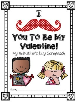 Mustache Valentine Party and Scrapbook Collection Packet