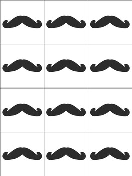 Mustache Valentines Day Tags and Happy Valentines Day Tag