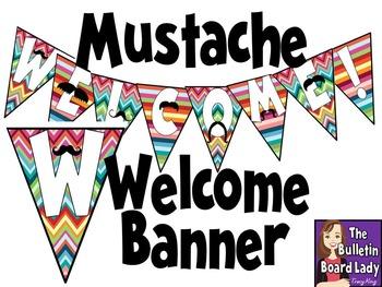 Mustache Welcome Banner *FREEBIE*