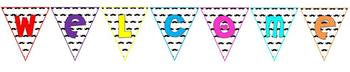 Mustache Welcome Pennant