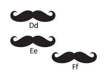 Mustache Word Wall