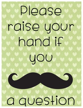 Mustache a question- Poster Green