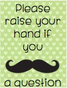 Mustache a question- Posters