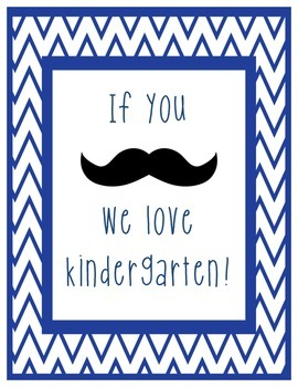 We love our grade! Mustache and chevron theme classroom sign printable