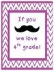 We love our grade! Mustache and chevron theme classroom si