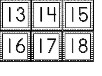 Mustache background Cubbie/ Book Box Numbers