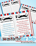 Mustache for Help - Printable To Do Lists