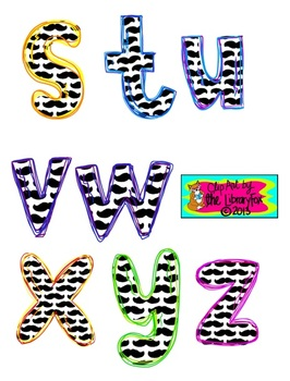 Mustache letters for titles and signs NOT a font