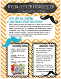 Mustache theme Library Media Center Newsletter template OR
