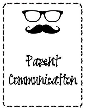 Mustache theme Teacher binders