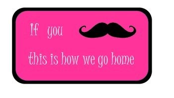 Mustache theme how we go home poster