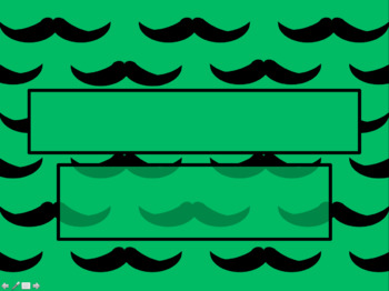 Mustache with Medium Green Background PowerPoint Template