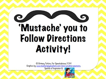 """""""Mustache"""" you to follow directions"""