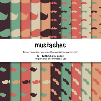 Mustaches Digital Papers
