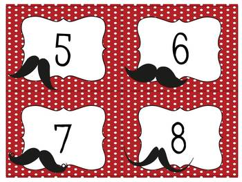 Mustaches and Red Patterns Classroom Theme Pack + Premade Forms!