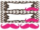 Mustaches on Brown Chevron Nameplates with bonus mustaches (editable)