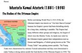 Mustafa Kemal Ataturk Worksheet- Reading with Questions an