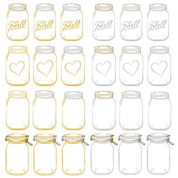 Mustard Mason Jars Clipart & Vectors - Ball Jar Clipart