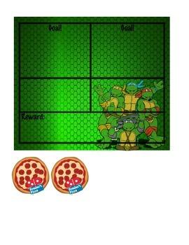 Mutant Ninja Turtle Goal Chart