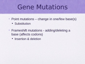 Mutations PowerPoint