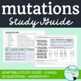 Mutations Study Guide