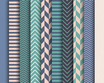 Muted Chevron Papers, Digital Papers, Stripe Papers, Chevron Paper Set #033